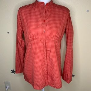 Women's Red Fitted Plaid Patagonia Long Sleeve